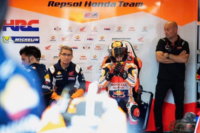 Jorge Lorenzo, 32 anni, al box Honda / Getty