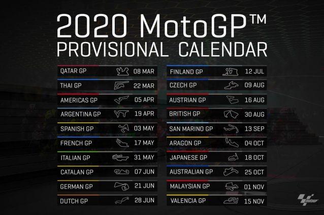 Calendario Maggio 2020.Motogp Ecco Il Calendario 2020 20 Gare Al Mugello Il 31