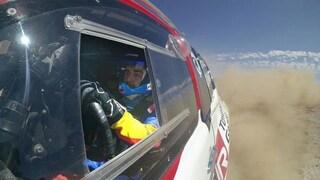 Fernando Alonso al via della Dakar con la Toyota e copilota Marc Coma