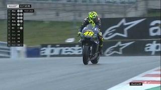 MotoGP Austria, Morbidelli e Rossi prima della pioggia. Marquez il migliore sul bagnato