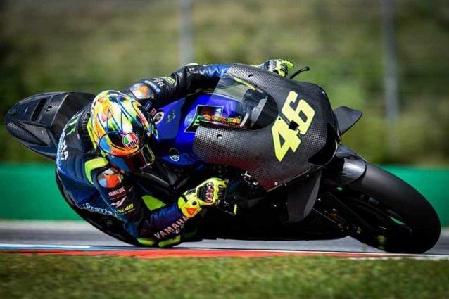 Valentino Rossi in pista a Brno con il prototipo 2020 / MotoGP.com