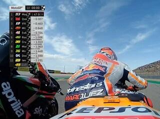 MotoGP Aragon, Marquez in pole ma è show Quartararo. 6° Rossi