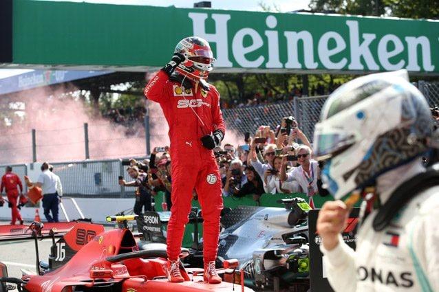 Charles Leclerc dopo il trionfo di Monza – LaPresse
