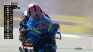 MotoGP, sul bagnato di Aragon rispunta Rins, Rossi nei dieci