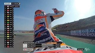 MotoGP, ad Aragon Marquez fa subito il vuoto, indietro Rossi