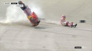MotoGP Aragon, riecco Vinales, 2° Rossi. Giù Marquez che cade alla 8