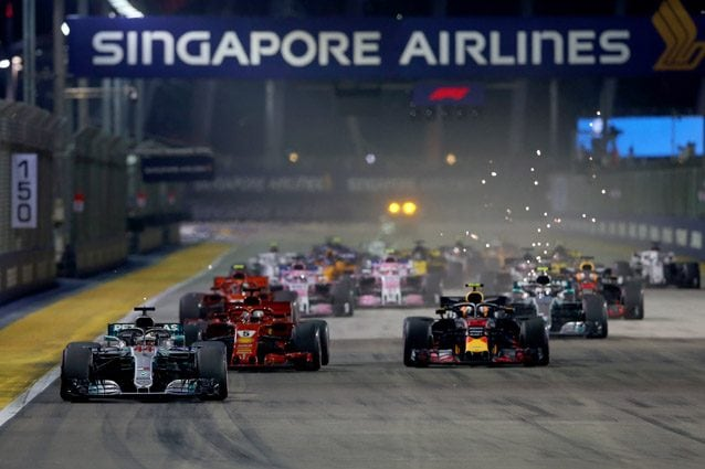 La partenza del GP di Singapore 2018 – Getty images