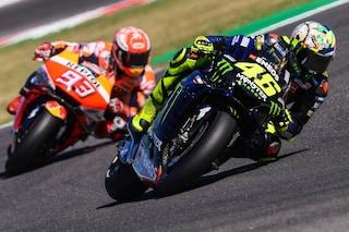 MotoGP Misano, Marquez risponde nel warm up, 10° Rossi