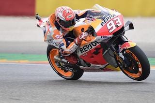 MotoGP: Marc Marquez re d'Aragona, ma che rimonta Dovizioso