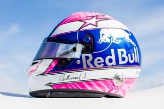 F1, Gasly a Monza con il casco dedicato all'amico Hubert morto nell'incidente di Spa