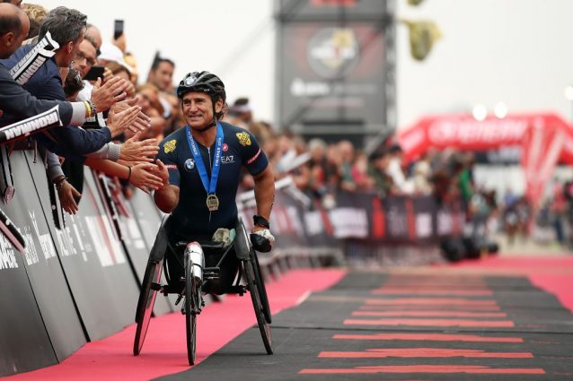 Alex Zanardi all'Ironman di Cervia / Getty