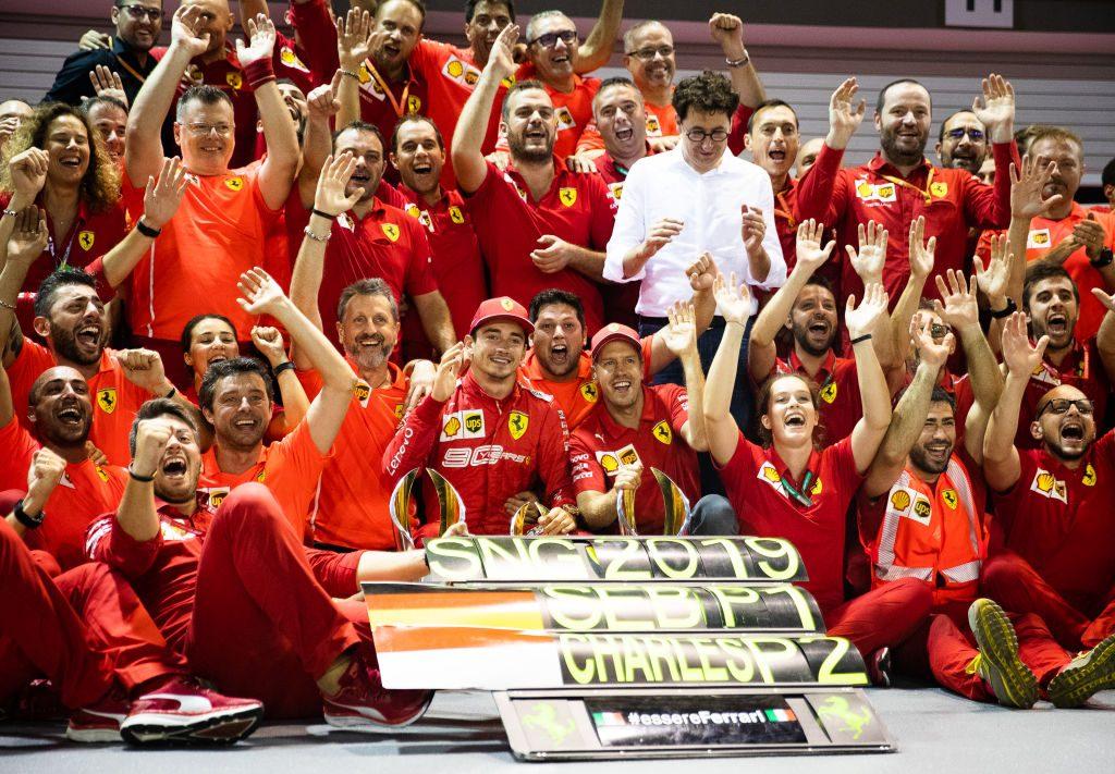 I festeggiamenti della Ferrari a Singapore / Getty