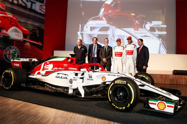 L'Alfa Romeo Racing in livrea speciale per il GP d'Italia – Foto Twitter