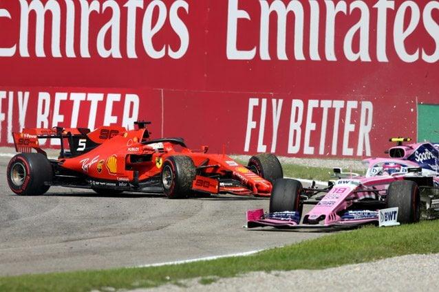 L'incidente di Sebastian Vettel nel GP d'Italia – Getty images