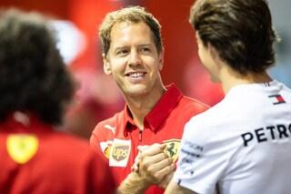 """Vettel: """"Le novità funzionano, speriamo di giocarcela con Mercedes in qualifica"""""""