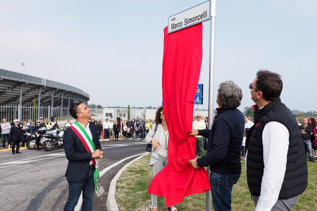 L'inaugurazione di via Marco Simoncelli a Misano / Instagram