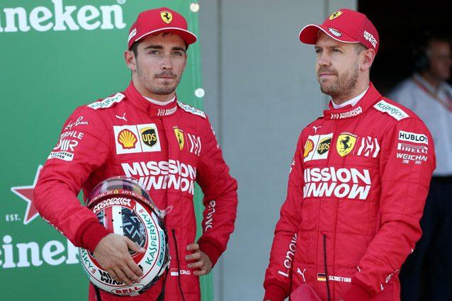 Charles Leclerc insieme a Sebastian Vettel – Getty images