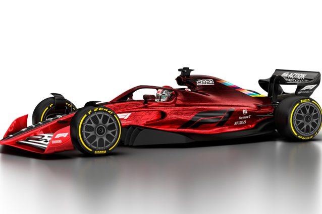 Una delle prime immagini della F1 2021 – Foto Twitter