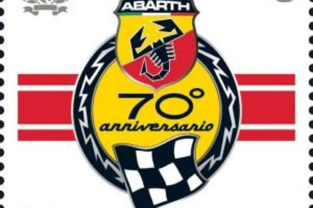 Il francobollo per festeggiare i 70 anni di Abarth