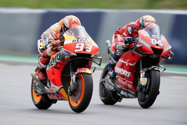 Marc Marquez (93) e Andrea Dovizioso (04) / Getty
