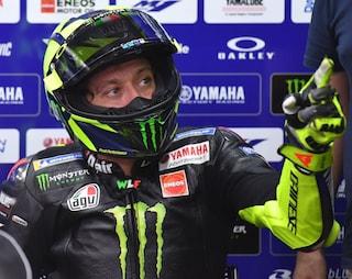 """MotoGP, Valentino Rossi caduto a Motegi: """"Ho sbagliato, ma sarebbe stata dura"""""""