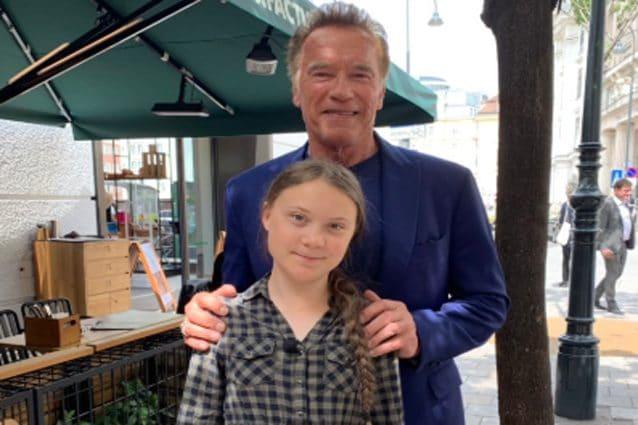 ArnoldSchwarzenegger e Greta Thunberg – Foto Twitter