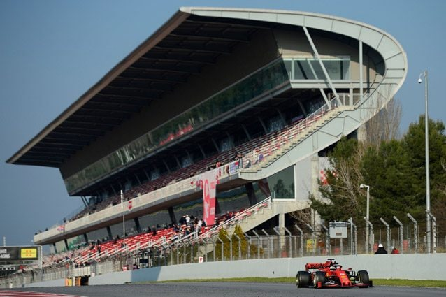 La Ferrari di Vettel al Montmeló – Getty images