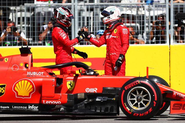 Sebastian Vettel e Charles Leclerc – Getty images