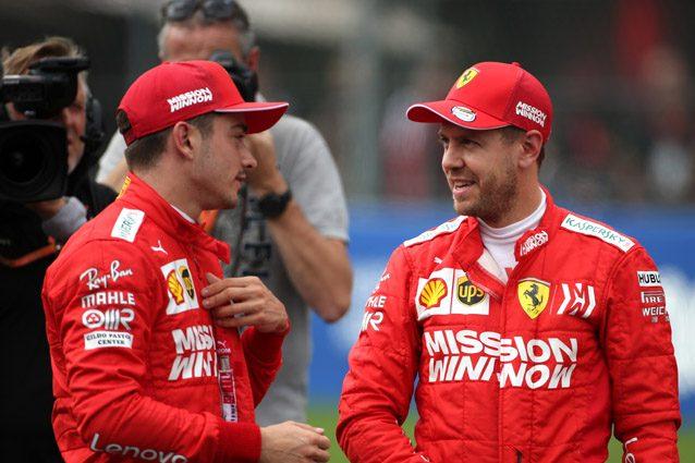 Sebastian Vettel e Charles Leclerc – LaPresse