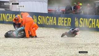 MotoGP Australia, brutta caduta per Quartararo: salta le FP2 ma sta bene