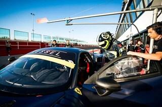 Valentino Rossi, test a Misano con la Ferrari della 12 Ore di Abu Dhabi