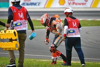 MotoGP, ecco come l'airbag ha salvato Marquez nell'incidente di Sepang