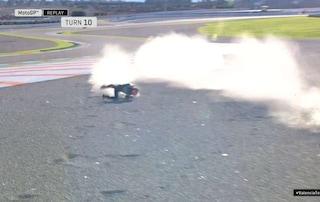 Test Valencia, incidente anche per Quartararo, ma è il Diablo della Yamaha il più veloce