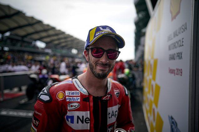 Andrea Dovizioso al parco chiuso / Ducati