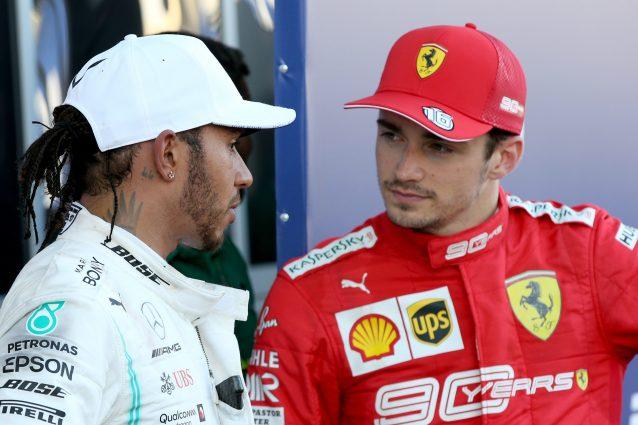 Lewis Hamilton, 34 anni, e Charles Leclerc, 22 / getty