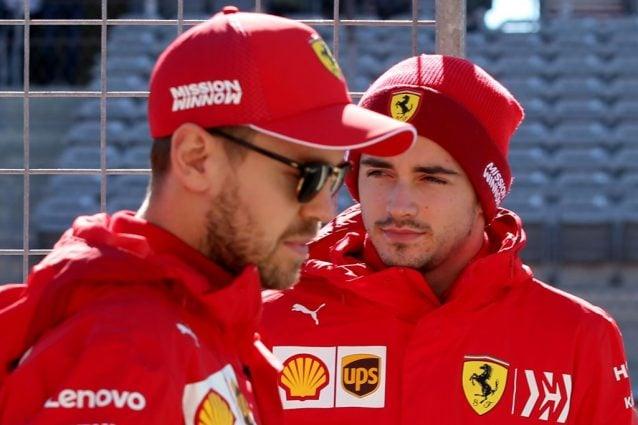 Sebastian Vettel, 32 anni, e Charles Leclerc, 22 / Getty