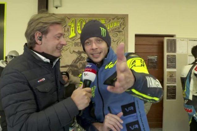 Valentino Rossi in collegamento con Sky Sport24 / Sky