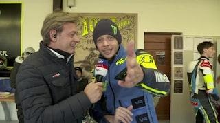 """Valentino Rossi al Ranch di Tavullia per la 100 km dei Campioni: """"Serve la diretta Sky"""""""