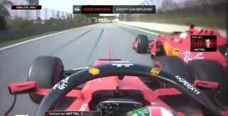 Incidente Vettel-Leclerc, i team radio del contatto in Brasile