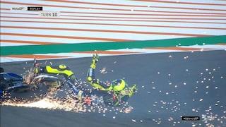 Valentino Rossi, secondo incidente a Valencia: a tradirlo è di nuovo l'anteriore