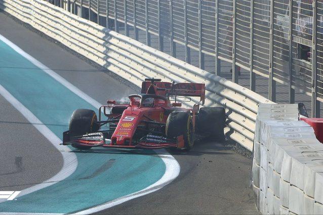 L'incidente di Vettel nelle libere 1 del GP di Abu Dhabi / F1