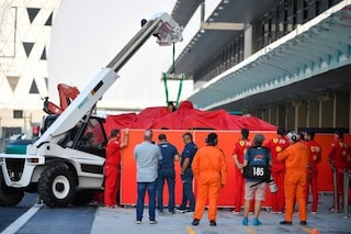 Leclerc, incidente e bandiera rossa nei test di Abu Dhabi