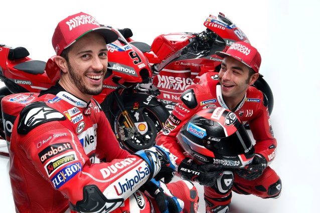 I piloti Ducati Andrea Dovizioso, 33 anni, e Danilo Petrucci, 29 / Ducati