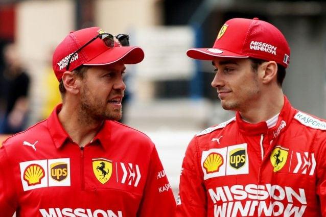 Charles Leclerc, 22 anni, e Sebastian Vettel, 32 / Getty