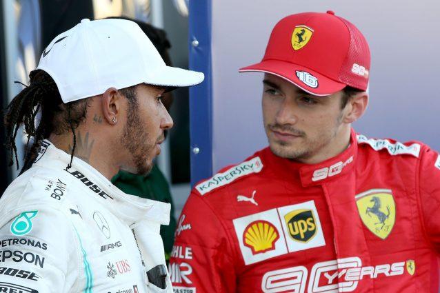 Lewis Hamilton, 34 anni, e Charles Leclerc, 22 anni / Getty