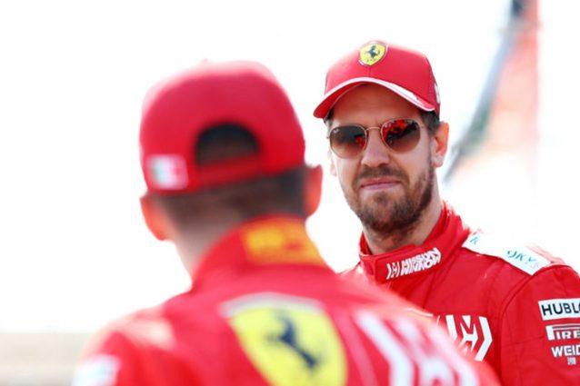 Di spalle Charles Leclerc, 22 anni, insieme a Sebastian Vettel , 32 / Getty