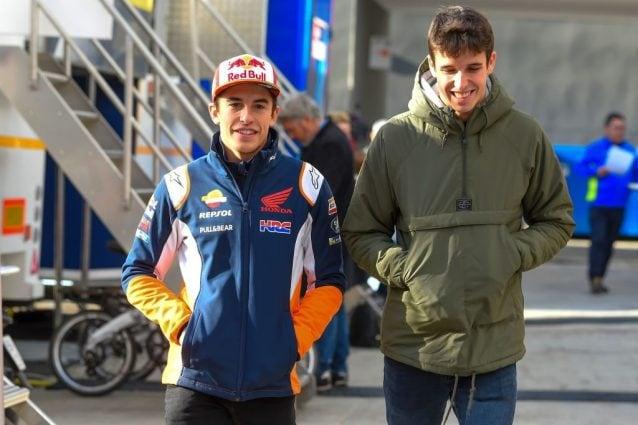 Marc Marquez, 26 anni, e suo fratello e nuovo compagno di squadra Alex, 23 / Getty