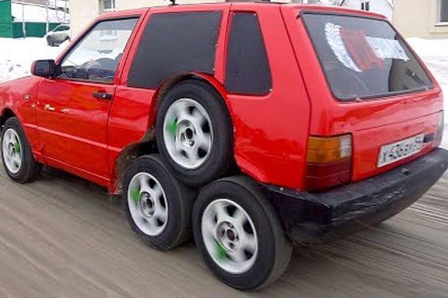 Fiat Uno trasformata in follia a 8 ruote / Garage 54