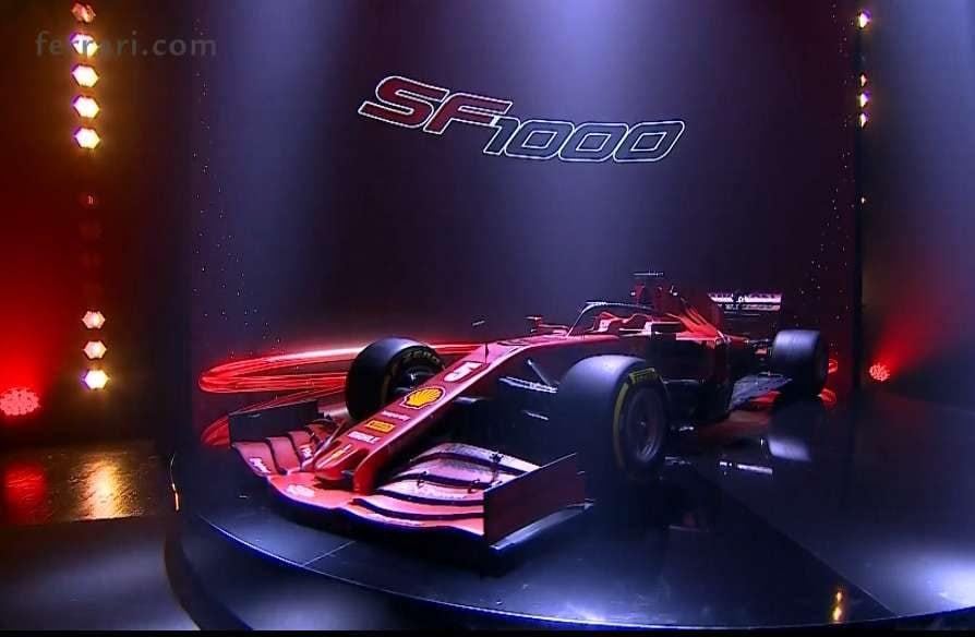La nuova SF–1000, la nonoposto con cui Vettel e Leclerc affronteranno la stagione 2020 del campionato del mondo di Formula 1 / Ferrari.com