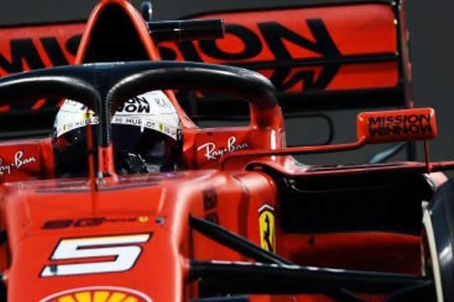 Sebastain Vettel, 32 anni, con la vettura dello scorso anno / Getty